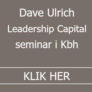 Dave Ulrich Leadership Capital seminar i København
