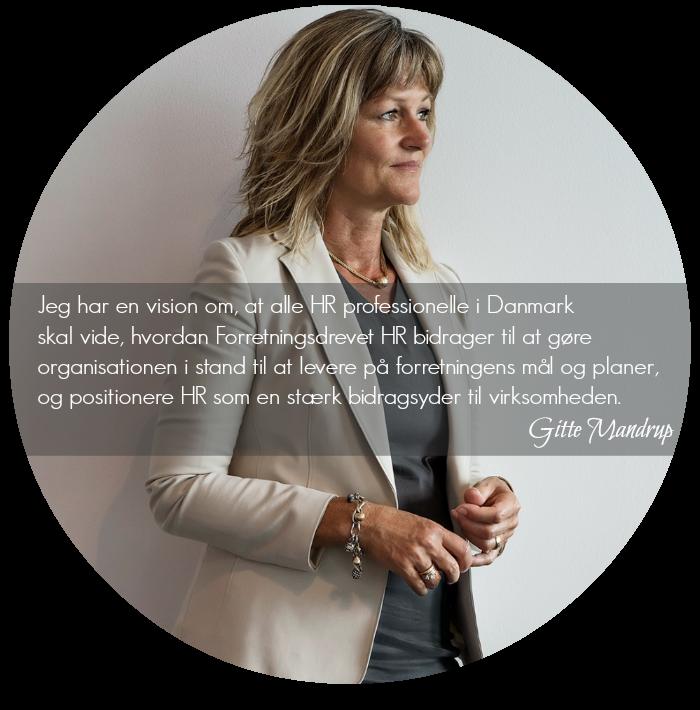 Gitte Mandrup's Forretningsdrevet HR vision