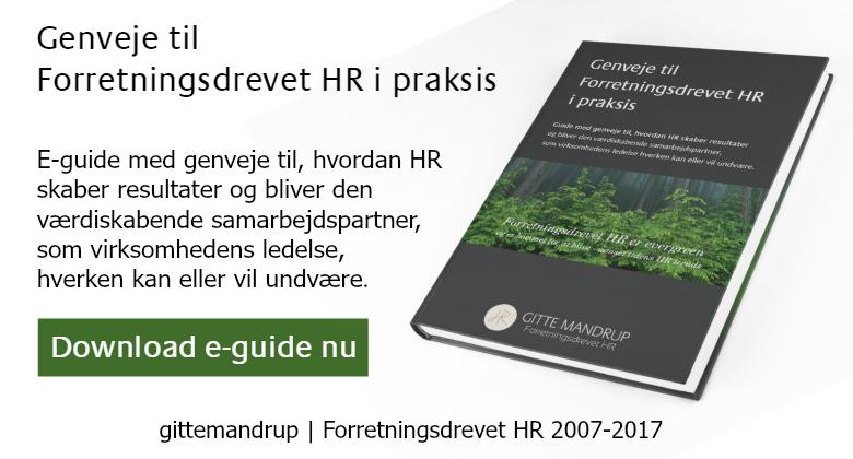 Download eguide Forretningsdrevet HR 2007-2017 Jubilæum @ Gitte Mandrup