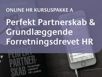 Online HR Kursus Perfekt Partnerskab & Grundlæggende Forretningsdrevet HR 2016