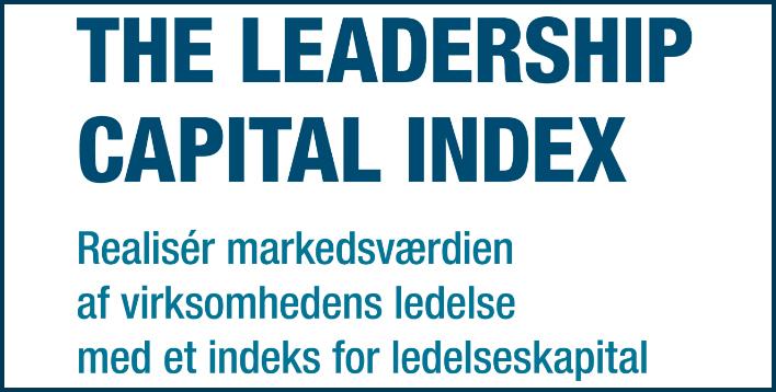 Dave Ulrich's indeks for ledelseskapital er relevant for alle med interesse for ledelse!