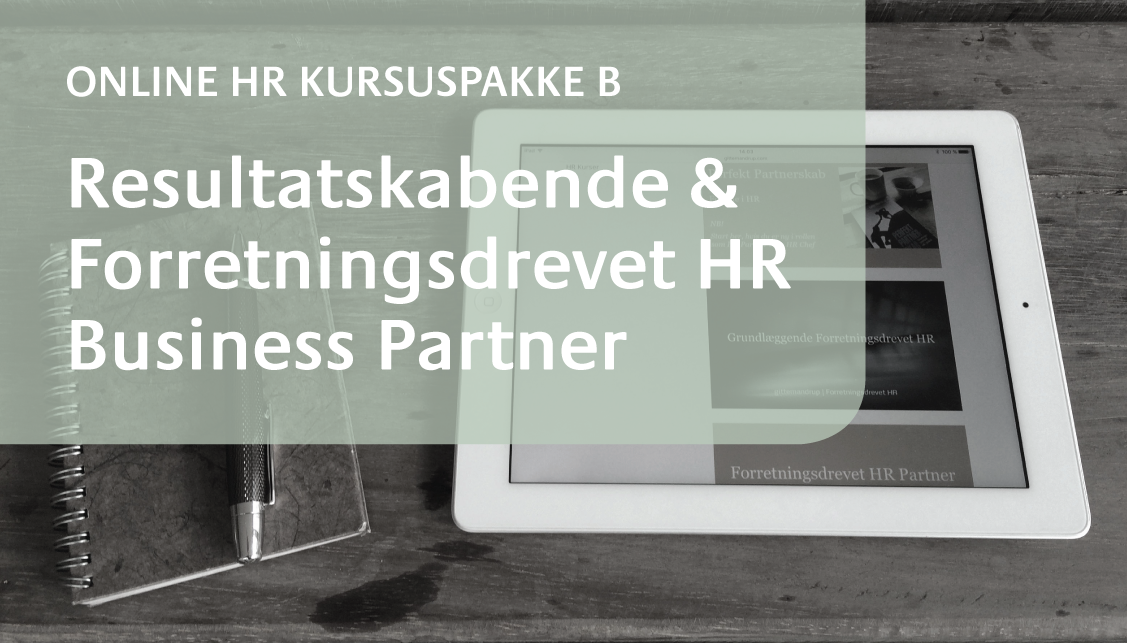 Online HR Kursus HR Business Partner 2016 @ Gitte Mandrup