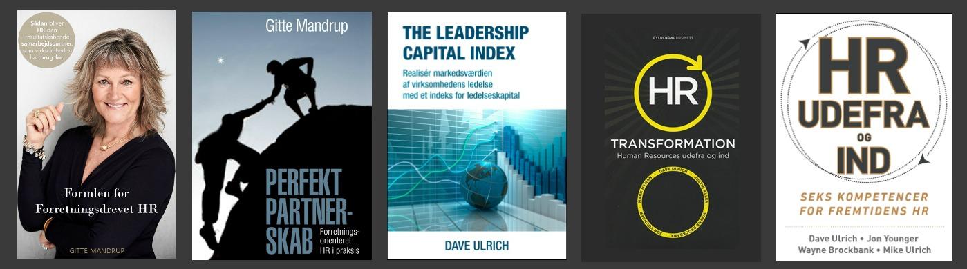Køb 4 HR bøger af Gitte Mandrup og Dave Ulrich - betal for 3