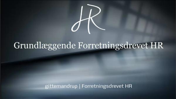 Lær grundlæggende Forretningsdrevet HR