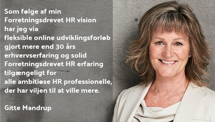 Om Gitte Mandrup Forretningsdrevet HR vision