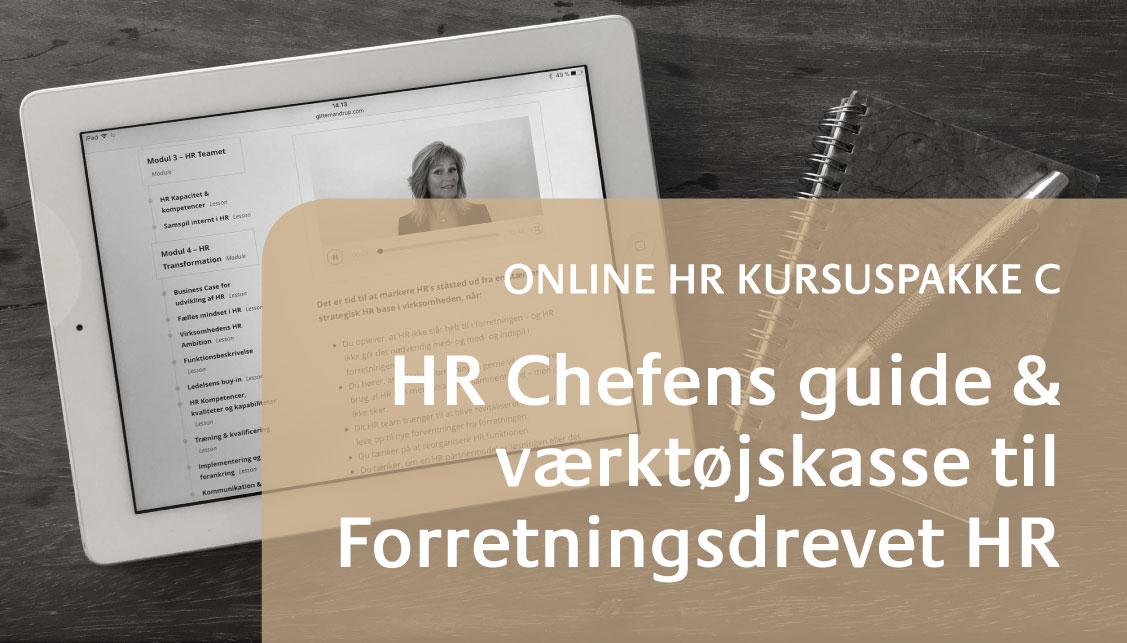 Få adgang til HR Chefens værktøjskasse til Forretningsdrevet HR