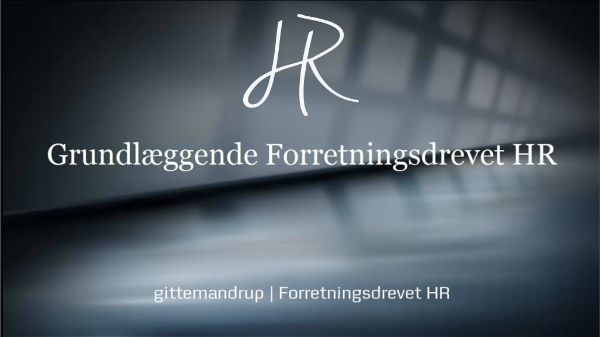 Grundlæggende Forretningsdrevet HR for alle i HR