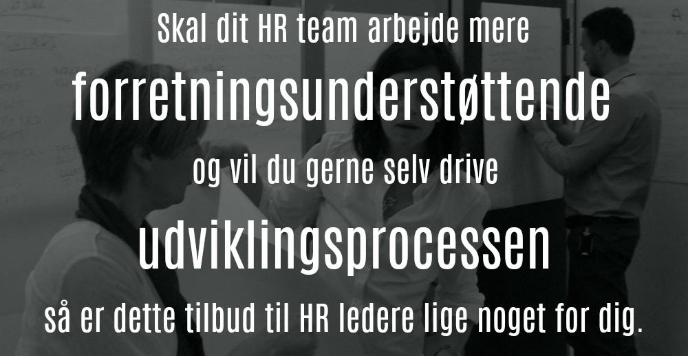 Gratis forløb for HR ledere, der vil udvikle deres HR team