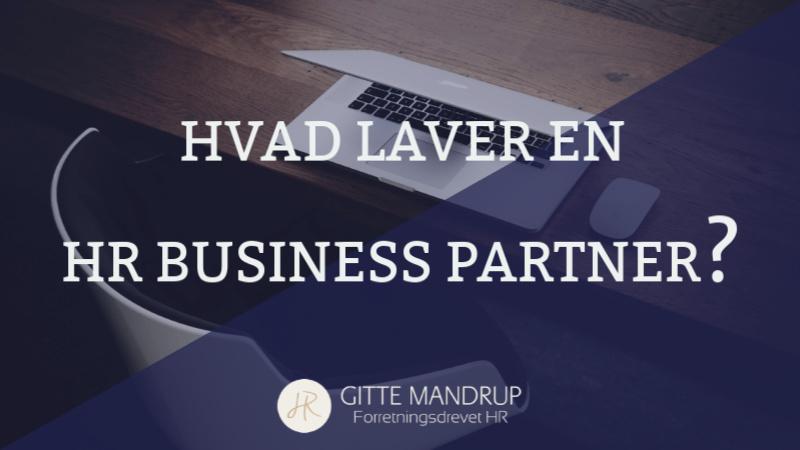 Hvad laver en HR Business Partner