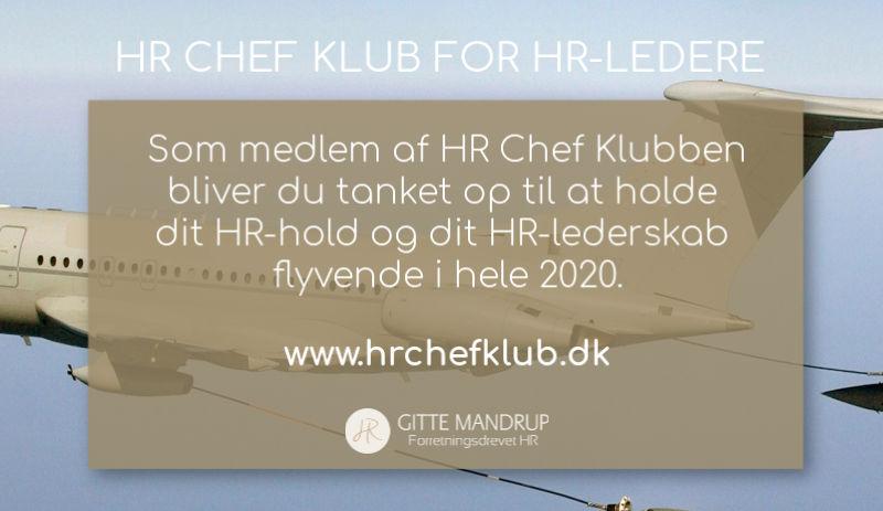HR Chef Klub 2020 med Gitte Mandrup
