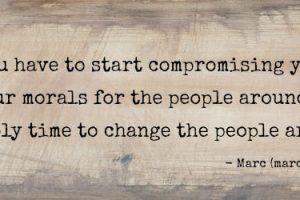 Indgå kompromisser, uden at gi' køb på din integritet
