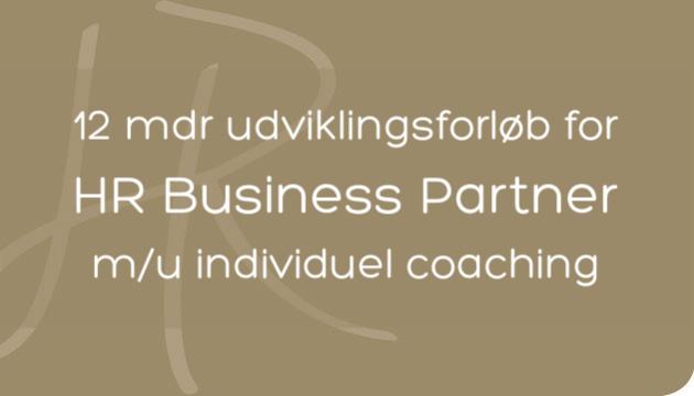 HR Business Partner uddannelse over 12 mdr