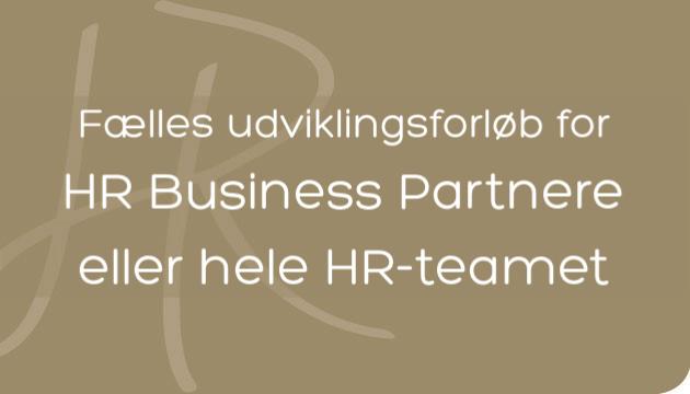 Fælles forløb for hele HR-teamet