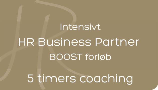 HR Business Partner BOOST med 5 timers personlig coaching