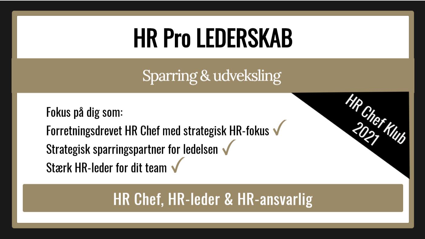 HR Pro LEDERSKAB inkl. HR Chef Klub 2021