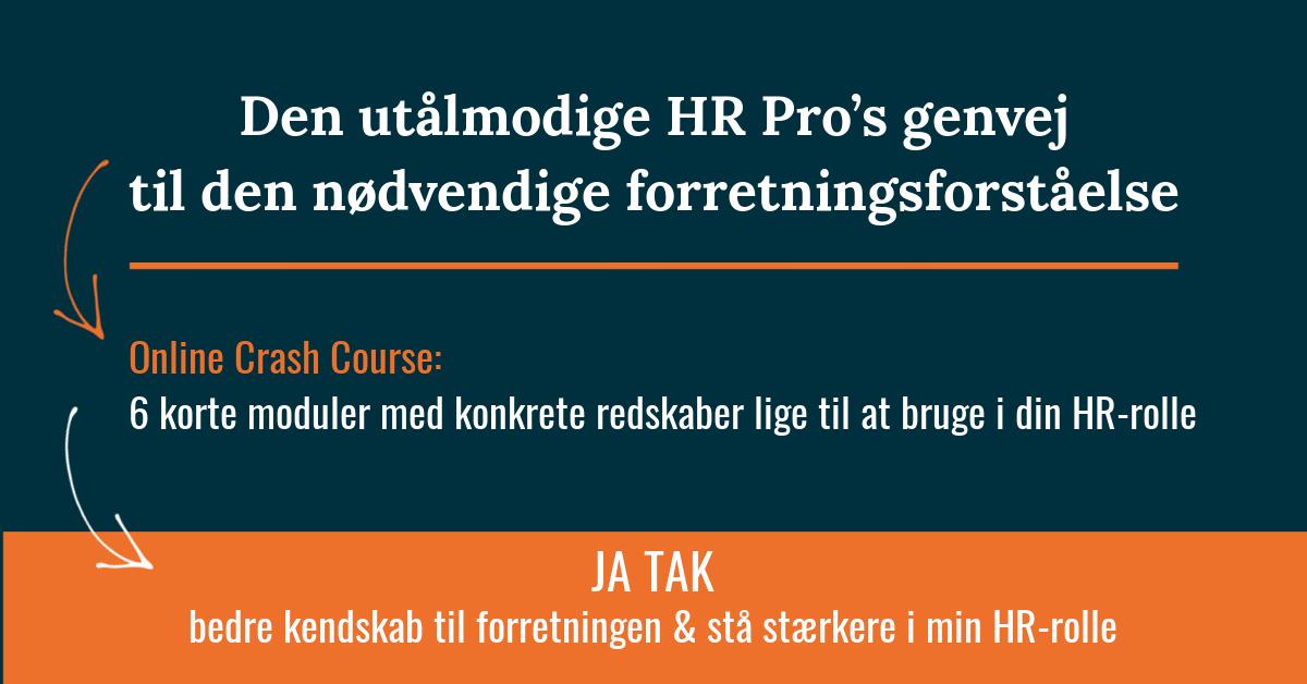 Få HR Pro genveje til at opnå & anvende større forretningsforståelse